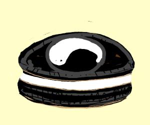 Eating ying-yang cookies