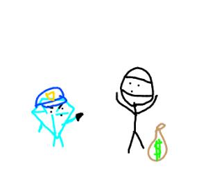 Diamond cop stops a robbery