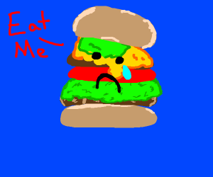 Suicidal burger wants to be eaten