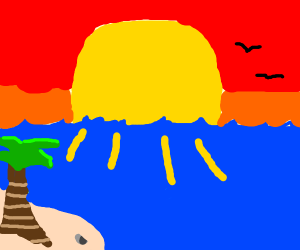 Swimming towards the sun