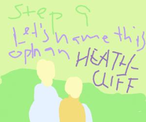 step 9: name it heathcliff