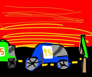 Car 95 is the winner