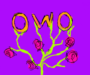 owo growing into a plant