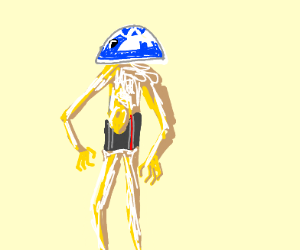 R2-D2 head C-3PO body