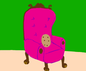 Potato on an armchair