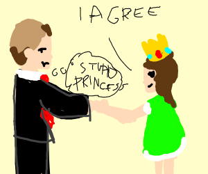 Princess in green agrees