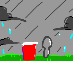 spoon and cup stand in the storm
