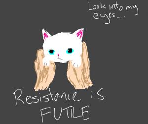 Resistance is futile meme.