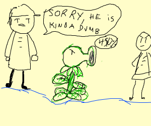 Dude apologizes for his PvZ PeaShooter.
