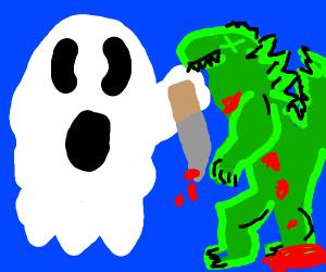 ghost murders Godzilla