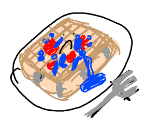 Crying waffle