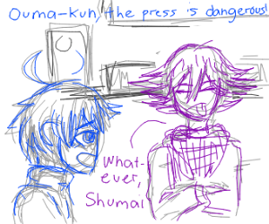 Kokichi Oma, stay outta the hydraulic press