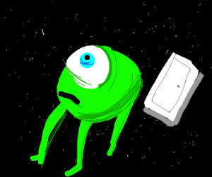 Mike wazowski in space