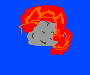 rock with fire