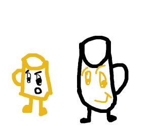 A regular mug is shocked by a luchador mug