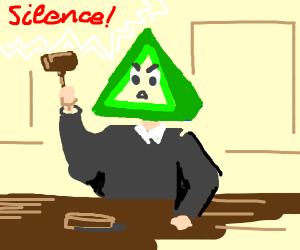 Judge with Green Triangle Head & 1 Eye