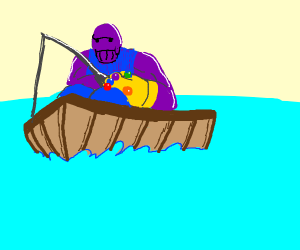 Thanos is fishing, not bombing