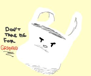 Angry plastic bag