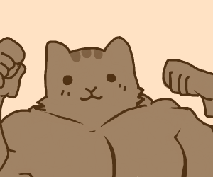 Buff Pusheen by Karl