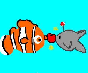 nemo fights robot fish