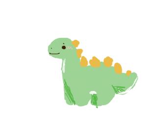 A cute stegosaurus