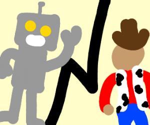 Robot vs. cowboy