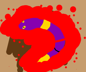 Ekans bleeding and coughing up blood