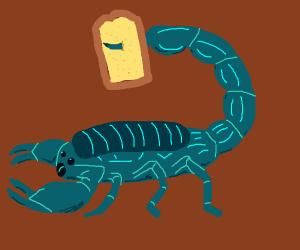 Scorpion has bread on its stinger