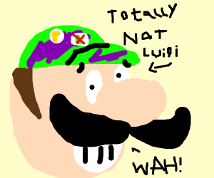 Purple Luigi says WAH!