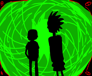 Rock and Mirty open a portal.