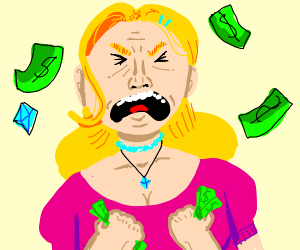 Angry Billionaire Lady