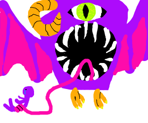 Flying purple people eater