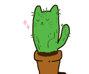Catcus ( cactus + cat)