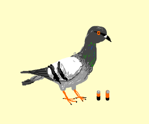Pigeon on a AAA battery
