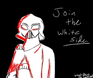 """Dark Vader says """"Luke join da white side"""""""