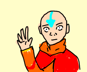 The last airbender waves at you