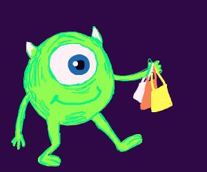 mike wazowski goes shopping