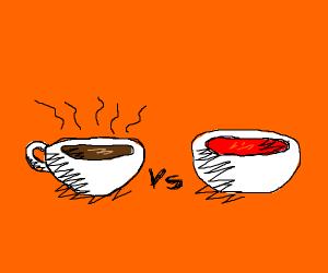 hot cocoa vs tomato soup... who's better ???