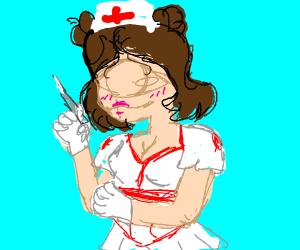 cyclops nurse with a needle