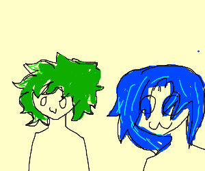Anime dudes with funky coloured hair