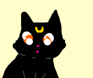 Kitty in a Drawception panel