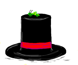 grasshopper with top hat