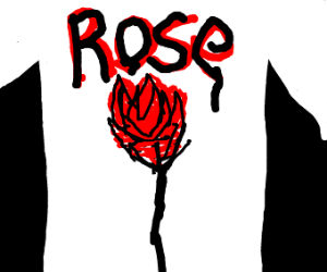Man with a rose on his shirt