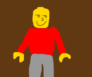 lego character with lenny face
