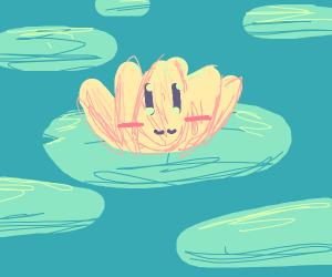 happy yellow flower lilypad thing