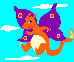 Charizard with Horns and butterfly wings