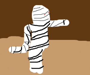 mummy walking like an egyptian