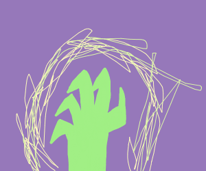 Radioactive hand