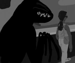 Dark Monster follows you