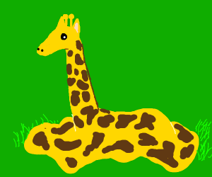 melting giraffe